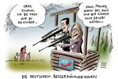 karikatur-schwarwel-afd-schiessbefehl-petry-storch