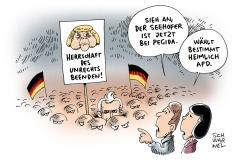 karikatur-schwarwel-seehofer-wahlkampf-pegida-afd-csu-cdu-merkel