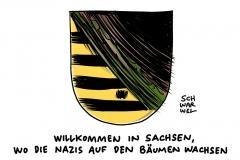 karikatur-schwarwel-polizei-bautzen-sachsen-rechtsextrem-fluechtlinge