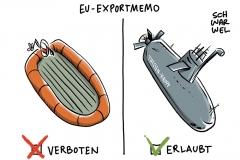 karikatur-schwarwel-waffenlieferung-militaer-waffenexport-deutschland-saudi-arabien-fluechtlinge-mittelmeer