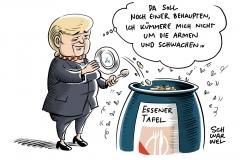 Versagen von CDU und SPD bei Sozialpolitik: Entrüstung über Essener Tafel nach Aufnahmestopp für Migranten