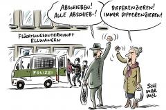Nach gewaltsamer Verhinderung von Abschiebung: Großeinsatz in Flüchtlingsunterkunft in Ellwangen
