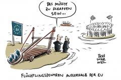 Alter-neuer Vorschlag für EU-Gipfel: Flüchtlingszentren außerhalb der EU