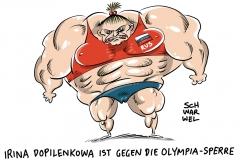 karikatur-schwarwel-olympia-russland-doping-rio