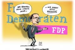 schwarwel-karikatur-fdp-dreikoenigstreffen