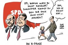 karikatur-schwarwel-kanzler-frage-kanzlerkandidat-spd-politik-martin-schulz-sigmar-gabriel