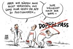 karikatur-schwarwel-doppelte-staatsbuergerschaft-cdu-spd-merkel-wahlkampf-wahl