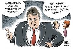 karikatur-schwarwel-sigmar-gabriel-hasspredigt-hassprediger-innere-sicherheit