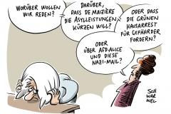 Flüchtlingspolitik: De Maizière will Asylleistungen kürzen, Grünen fordern: Gefährder in Hausarrest, Demokratieverachtende Thesen: Alice Weidel will Veröffentlichung rassistischer E-Mail stoppen