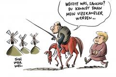 SPD droht Wahldesaster Martin Schulz im Umfragetief