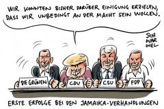Sondierungsgespräche in Berlin: Jamaika-Parteien wollen schwarze Null und Soli-Abbau