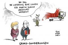 """SPD zieht vor Gesprächen über Regierungsbildung viele rote Linien: SPD-Vorstand will """"ergebnisoffen"""" mit Union sprechen"""