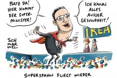 Gesundheitsminister Jens Spahn: Sorge um Einhaltung von Recht und Ordnung in Deutschland