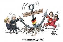CDU wirft SPD Doppelstrategie vor: Koalitionskrach um Ankerzentren