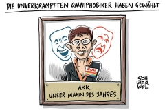 """AKK zur Debatte über ihren Witz: """"Wir sind das verkrampfteste Volk der Welt"""""""