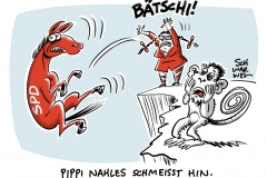 Rückzug aus der Politik: SPD-Chefin Andrea Nahles schmeißt hin