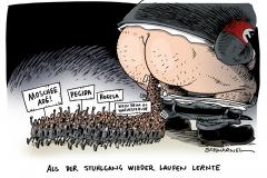 schwarwel-karikatur-stuhlgang-protest-fluechtlinge-fremdenhass