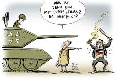 schwarwel-karikatur-einsatz-gewalt-rechtsextremismus-innenpolitik