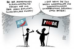 schwarwel-karikatur-afd-fluechtlinge-fluechtlingpolitik-pegida