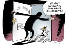 schwawel-karikatur-felidae-vertragskuendigung-volksverhetzung-akif-pirincci-pegida-auslaenderhass-fremdenfeindlichkeit