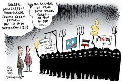 karikatur-schwarwel-presse-pegida-mistgabel-aufruf-galgen-rechtsextrem-afd