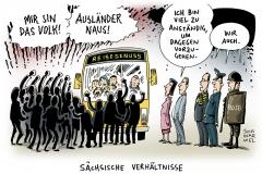 karikatur-schwarwel-sachsen-reisegenuss- hetze-flüchtlinge