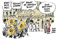 karikatur-schwarwel-identitaere-bewegung-sturm-bundesjustizministerium-heiko-maas