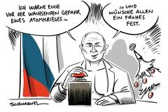 Weihnachtsansprache: Putin warnt vor Atomkrieg