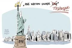 karikatur-schwarwel-donald-trump-einreisestopp-muslime-dekret-us-usa-praesident-muslimbam