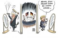 karikatur-schwarwel-merkel-trump-us-usa-amerika-deutschland-politik