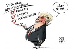 Trump und der Terror: US-Präsident schlachtet Terroranschlag in New York für politische Zwecke aus
