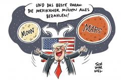 Weltraumerkundung: Trump will Amerikaner zu Mond und Mars schicken