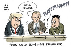 Wahl in Russland: Putin präsentiert neue Raketen