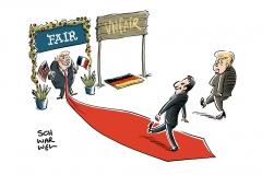 Europa-Woche im Weißen Haus: Merkel und Macron treffen Trump
