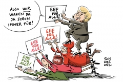karikatur-schwarwel-ehe-fuer-alle-spd-schulz-merkel-cdu-homoehe