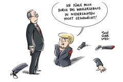 Druck auf Kanzlerin wächst: Niedersachsen-Ergebnis Niederlage für Merkel