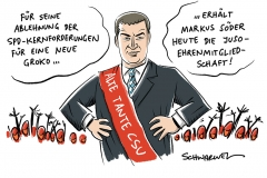 Bürgerversicherung und mehr EU: Söder lehnt Kernforderungen der SPD ab