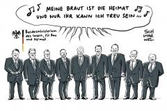 Shitstorm für Heimat-Horst: Nur weiße, alte Männer im Team