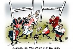 schwarwel-karikatur-atomstreit-iran-atomverhandlungen