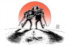 schwarwel-karikatur-google-microsoft-internet-patent-rechtsstreit