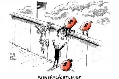 schwarwel-karikatur-steuerflucht-steuerfluechtlinge-dollar-usa
