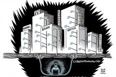schwarwel-karikatur-cyberkriminalitaet-fadenkreuz