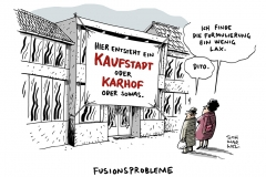 schwarwel-karikatur-fusion-kaufhof-karstadt-fusionsprobleme