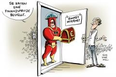 schwarwel-karikatur-finanzspritze-rocket-internet