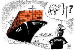 schwarwel-karikatur-hafenmeister-containerschiffe