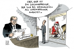 schwarwel-karikatur-lufthansa-streik-lohn-gehalt-weihnachten