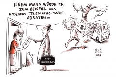 karikatur-schwarwel-telematik-auto-autoversicherung-versicherung