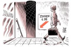 karikatur-schwarwel-zins-zinsen-negativzins-bank-börse