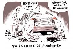 karikatur-schwarwel-vw-volkswagen-abgas-e-mobilität