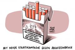 karikatur-schwarwel-schockbilder-zigarettenschachtel-rauchen-raucher